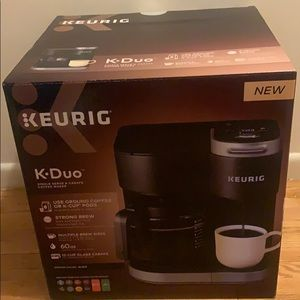 KEURIG coffee maker.
